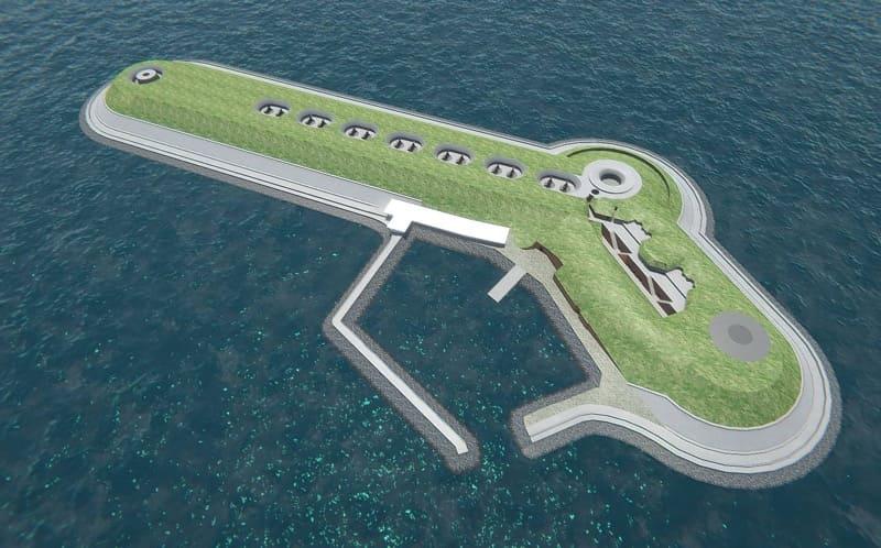 第一海堡完成時の全景(CG による再現図)