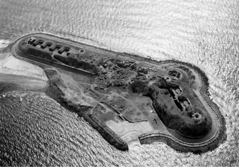 第一海堡終戦後の写真