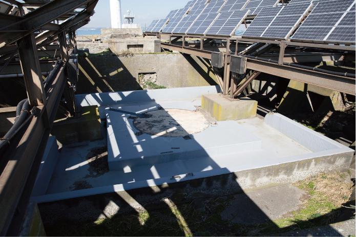 第二海堡高角砲の砲座跡