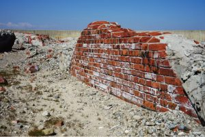 Brick construction (on right wing west side bunker)