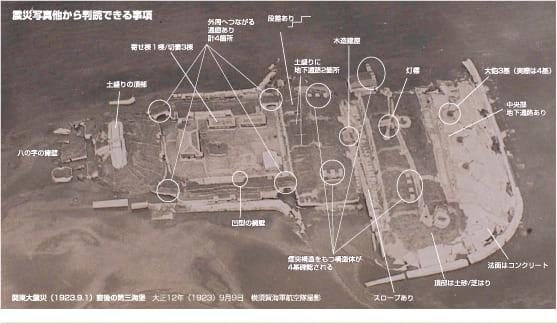 震災写真他から判読できる事項(関東大震災(1923.9.1 )直後の第三海堡)