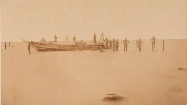 第一海堡築造時の写真