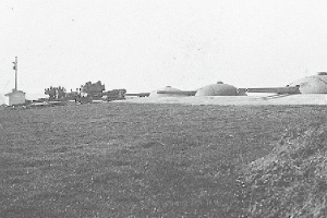 Scenery of right wing of turrets deployment of No.2 Sea Fort