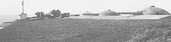 第二海堡右翼砲塔配備之景