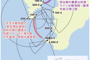 太平洋戦争時の東京湾防御図
