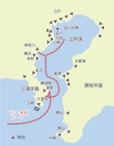 ペリー来航後の江戸湾の台場