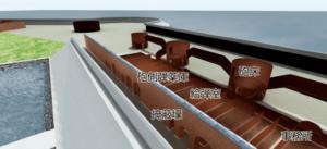 掩蔽壕の地下構造イメージ(CGによる再現図)
