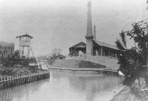 小菅にあった集治監のレンガ工場